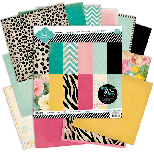 Heidi Swapp - Sugar Chic Collection - 12 x 12 Paper Pack