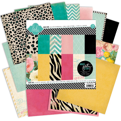 Heidi Swapp - Sugar Chic Collection - 6 x 6 Paper Pack