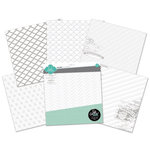 Heidi Swapp - Color Magic Collection - 12 x 12 Resist Paper Pack