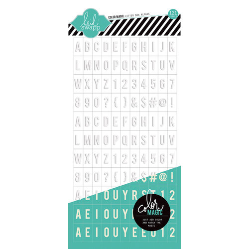 Heidi Swapp - Color Magic Collection - Resist Cardstock Stickers - Letterbox Alphabet