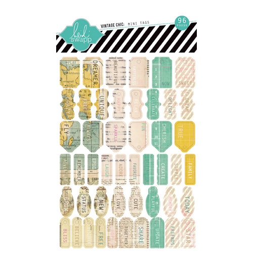 Heidi Swapp - Vintage Chic Collection - Mini Tags