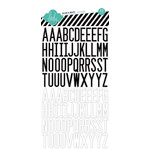 Heidi Swapp - Vintage Chic Collection - Epoxy Stickers - Letter - Black and White