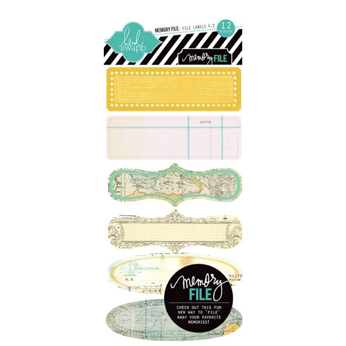 Heidi Swapp - Memory File Collection - File Tab Stickers - Version 2