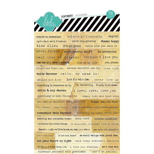 Heidi Swapp - Cardstock Stickers - Sentiments