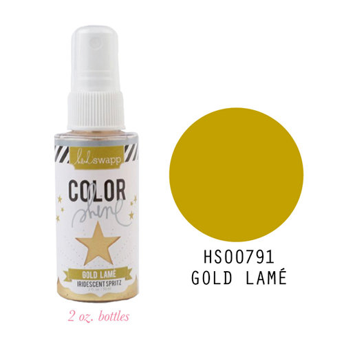 Heidi Swapp - Color Shine Iridescent Spritz - 2 Ounce Bottle - Gold Lame