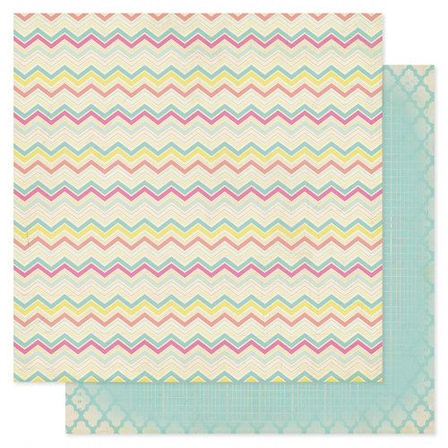 Heidi Swapp - Serendipity Collection - 12 x 12 Double Sided Patterned Paper - Happiness