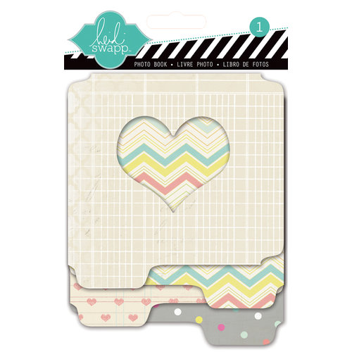 Heidi Swapp - Serendipity Collection - Mini Fotostack Openable - Staggered Paper Album - Hearts