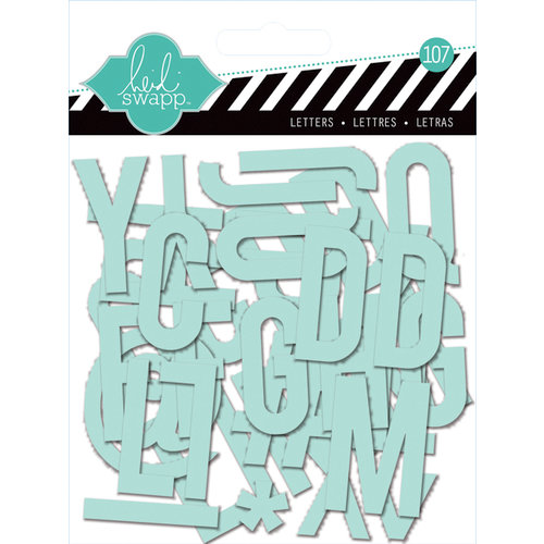Heidi Swapp - Clear Pop Collection - Clear Alphabet Mint