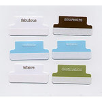 Heidi Swapp - Credit Card Accessories - Tabs - Travel, CLEARANCE