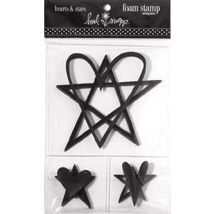 Heidi Swapp - Foam Stamps - Shapes - Hearts and Stars, CLEARANCE