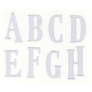 Heidi Swapp Ghost Alphabets - Rhyme Upper Case - Clear, CLEARANCE