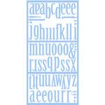 Heidi Swapp - Plastic Alphabets - Control Freak - Sea - Blue, CLEARANCE