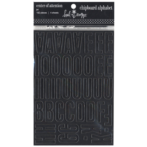 Heidi Swapp - Chipboard Alphabet - Center of Attention - Jet, CLEARANCE