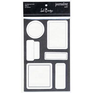 Heidi Swapp - Journaling Spots - Frills 2 - Black and White, CLEARANCE