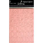 Heidi Swapp - Chipboard - Alphabet - SHE - Pink, CLEARANCE