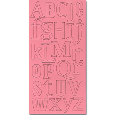 Heidi Swapp - Chipboard Letters - One and Three-Fourths Inch - Schizophrenic Font - Pink, CLEARANCE