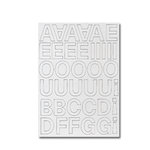 Heidi Swapp - Chipboard Letters - One Inch - Lemonade Stand Font - White, CLEARANCE