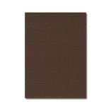 Heidi Swapp - Chipboard Letters - One Inch - Newsprint Font - Brown, CLEARANCE