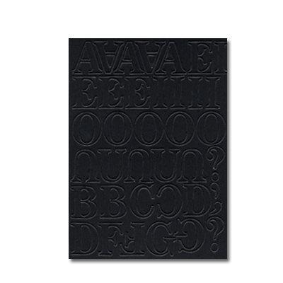 Heidi Swapp - Chipboard Letters - One Inch - Newsprint Font - Jet Black, CLEARANCE