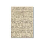 Heidi Swapp - Chipboard Letters - One Inch - Newsprint Font - Ledger, CLEARANCE