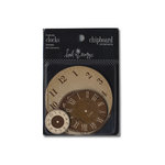 Heidi Swapp - Chipboard - Ornaments - Clocks - Brown