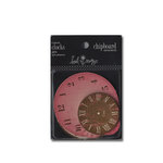 Heidi Swapp - Chipboard - Ornaments - Clocks - Pink