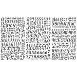 Heidi Swapp - Rub Ons - Alphabet - Apple Pie - Jet Black, CLEARANCE