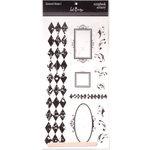 Heidi Swapp - Scrapbook Scenery Stickers - Clear - 12x12 - Diamond Drama 1