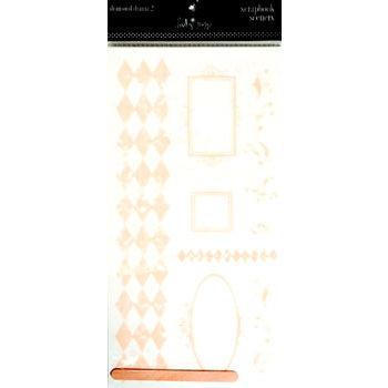 Heidi Swapp - Scrapbook Scenery Stickers - Clear - 12x12 - Diamond Drama 2