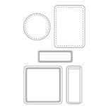 Heidi Swapp - Clear Stamps - Frills, CLEARANCE
