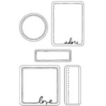 Heidi Swapp - Clear Stamps - Love, CLEARANCE