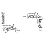 Heidi Swapp - Clear Stamps - Family Corners
