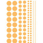 Heidi Swapp - Glossy Chipboard - Polka Dots - Clementine, CLEARANCE