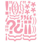 Heidi Swapp - Glossy Chipboard - Exclamations - Pink, CLEARANCE