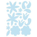 Heidi Swapp - Glossy Chipboard - Flowers - Whisper Blue, CLEARANCE
