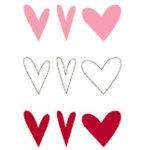 Heidi Swapp - Glossy Chipboard - Hearts - Tri Color