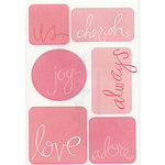 Heidi Swapp - Stickers - Words - Adore, CLEARANCE