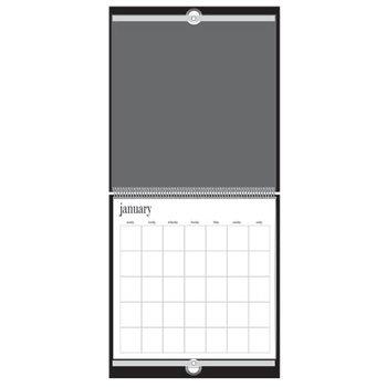 Heidi Swapp - 12x12 Calendar - Jet - Black
