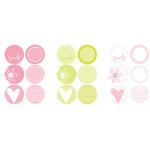 Heidi Swapp - Writers Block - Circles - Capri, CLEARANCE