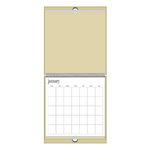 Heidi Swapp - 12x12 Calendar - Natural - Brown