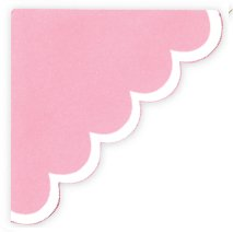Heidi Swapp - Photo Corners - Extra Large - XL - Pink Scallop