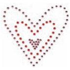 Heidi Swapp - Bling Frames - Hearts, CLEARANCE