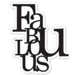 Heidi Swapp - Clear Stamps - Fabulous, CLEARANCE