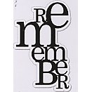 Heidi Swapp - Clear Stamps - Remember