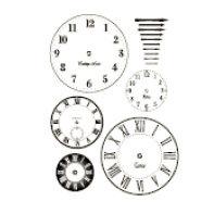 Heidi Swapp - Metallic Rub-Ons - Clock Faces - Bronze