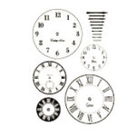 Heidi Swapp - Metallic Rub-Ons - Clock Faces - Bronze
