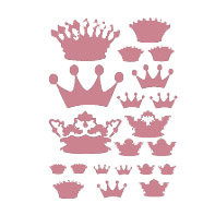 Heidi Swapp - Metallic Rub-Ons - Crowns - Pink