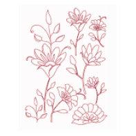 Heidi Swapp - Metallic Rub-Ons - Flowers - Pink