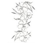 Heidi Swapp - Metallic Rub-Ons - Hibiscus - Silver, CLEARANCE