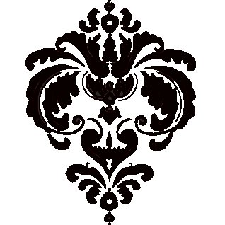 Heidi Swapp - Rolled Stickers - Clear - Damask - Jet, CLEARANCE